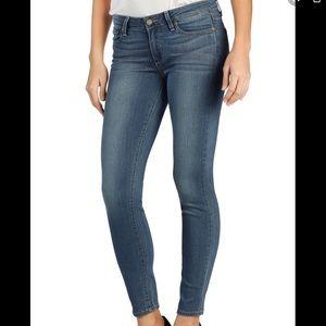 Sz27 Paige Verdugo Ankle Skinny Jeans Med Wash 237